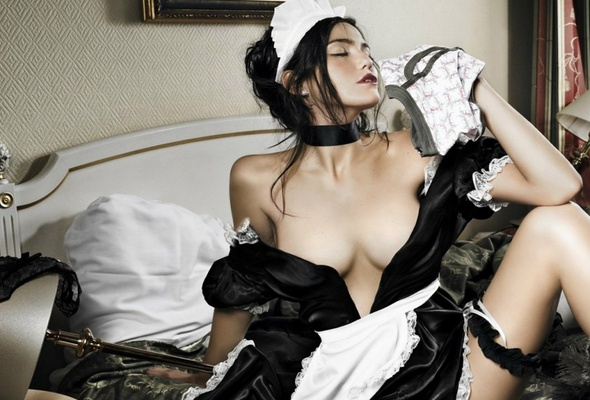 French maid sex
