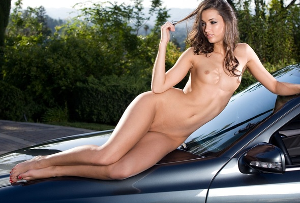 Ru Girls Cars Geia Jones Car Nude Naked Boobs Wallpaper