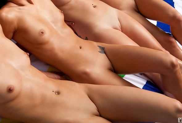 Women nude in baseball stadium