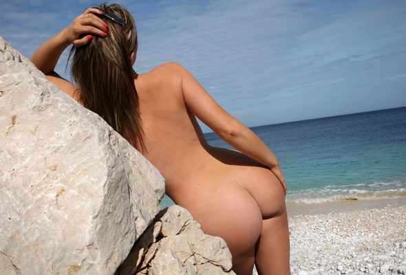 Ass beach Girls at