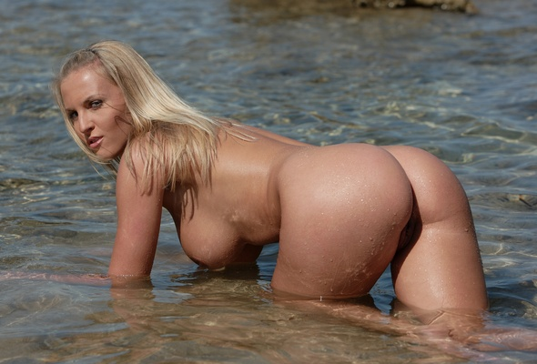 Blonde webcam outdoor big ass