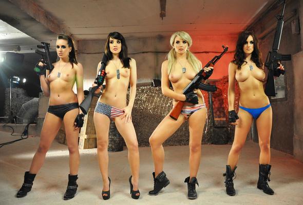 Gun backgrounds sexy desktop girl with
