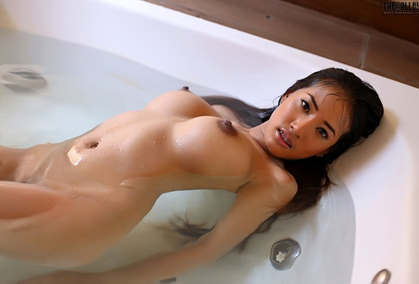 Asian girl with long nipples
