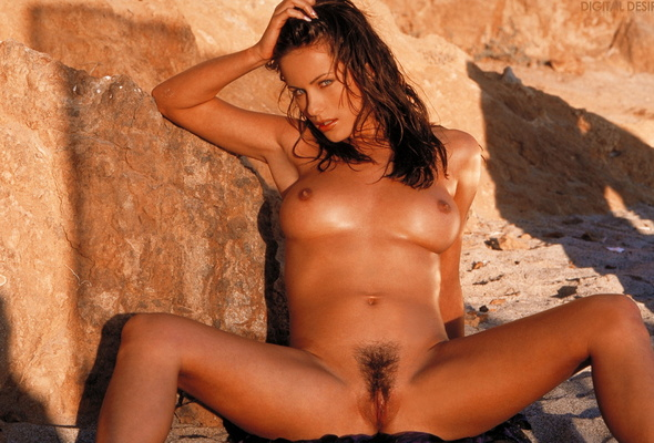 Wallpaper Kyla Cole, Nude, Babe, Pubic Hair, Beach, Sea -4521