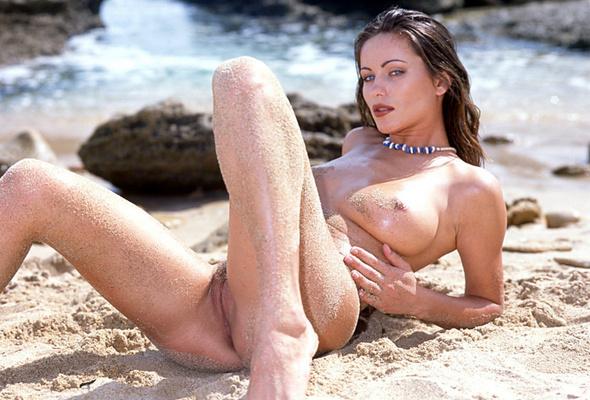 Naked girl take bath