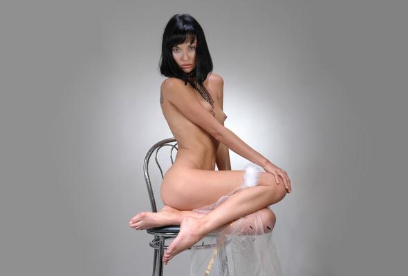 nude, bride, brunette, chair, legs, juicy, beauty