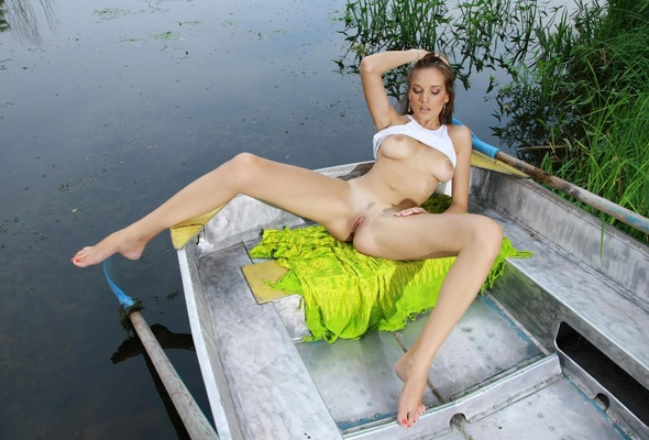Something is. Nude girl in pond useful message