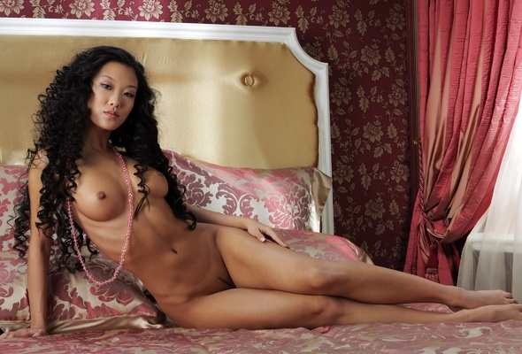 asian with long women hair Nude