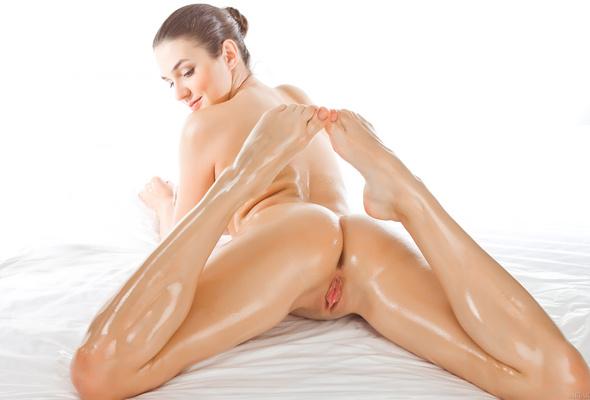 Wallpaper Vanda B, Sexy, Brunette, Oiled, Pussy, Ass -2605
