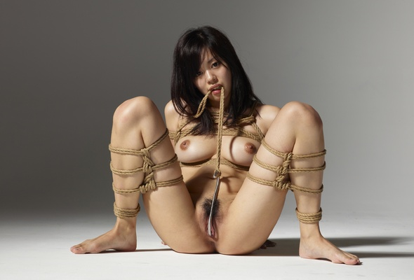 Asian tits tied