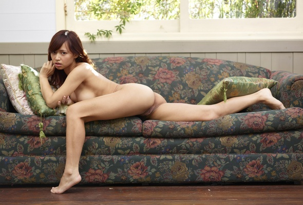 Girl unzipping her pants nude