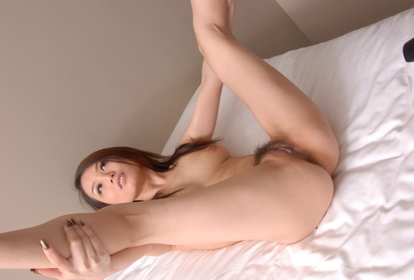 on bed woman spread Naked