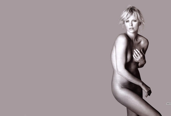 Celebrities Charlize Theron Lingeri Nude Blonde Sey Wallpaper
