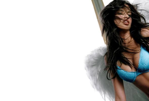 adriana lima, brunette, bikini, hairs