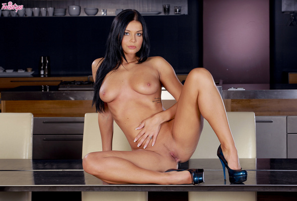 Nude long black hair pussy movie with