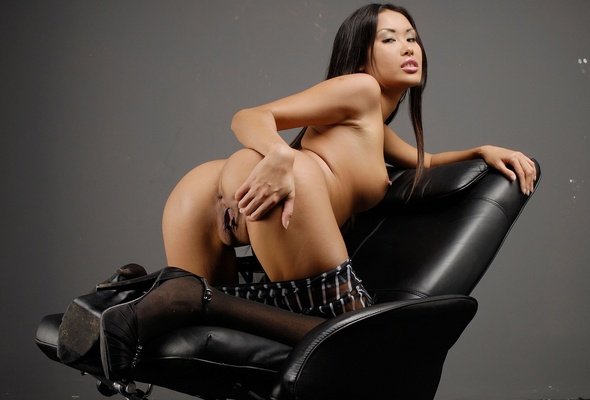 Asian a on hot chair nude