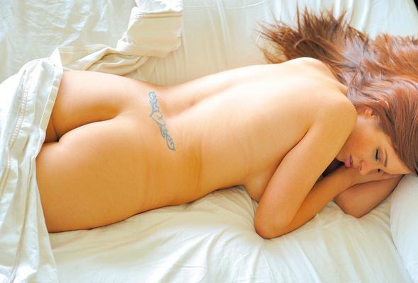 Girl sleeping ass pussy tits