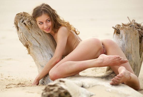 Hot beach models nude, female sat on dildo