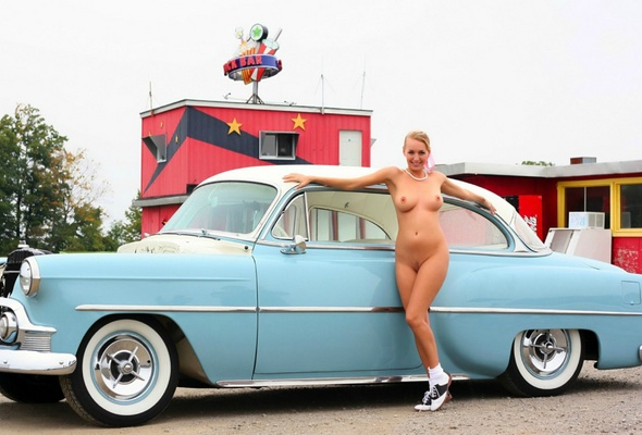 Cars Nude classic girls and