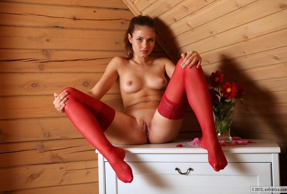 stockings xxx Red