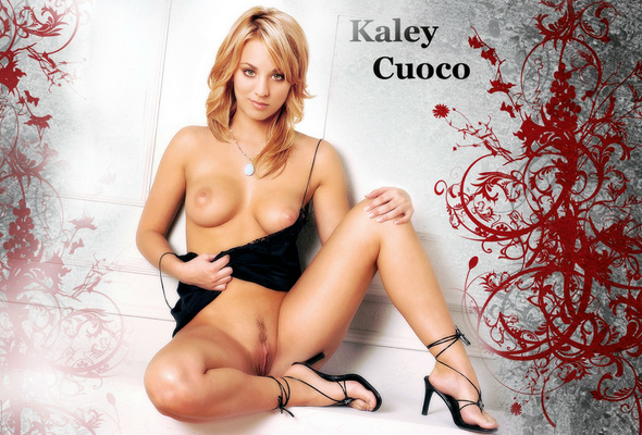 New kaley cuoco fakes message