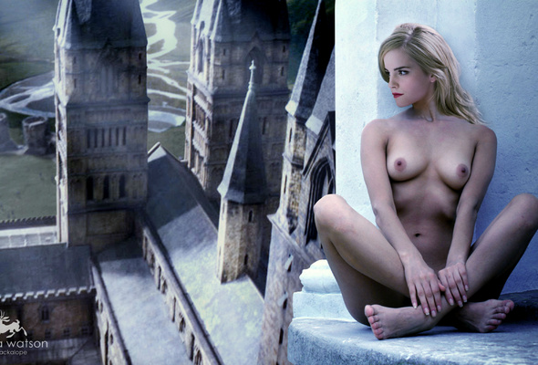 Wallpaper Fake, Actress, Emma Watson, Nude, Boobs, Legs -5020
