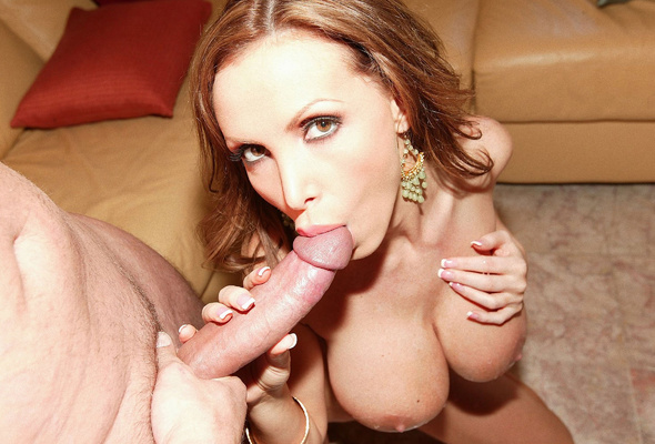 Pornstar sucking dick