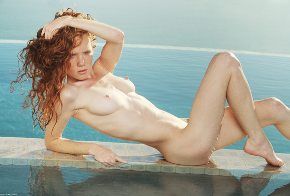 Nude pool redhead beach at topic Completely share