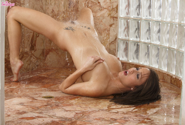 hot and horny slut gives her boyfriend a soapy surprise