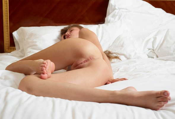 girls asleep there nude ass showing