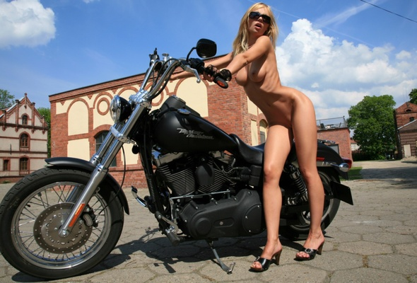 Think, Girl naked on harley davidson remarkable
