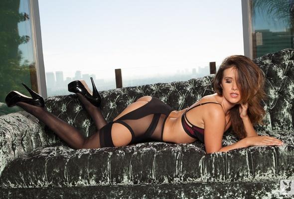 stockings brunettes lingerie Playboy