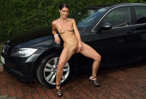 Intelligible Nude drive by women with