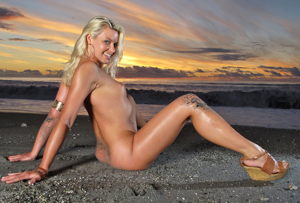 Naked girl sunset nude beach
