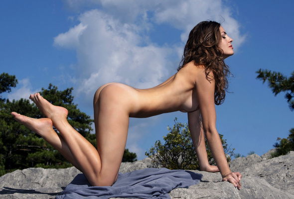Naked model public fuck
