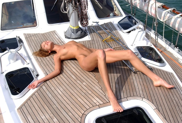 Are going nude sunbathing on boat something