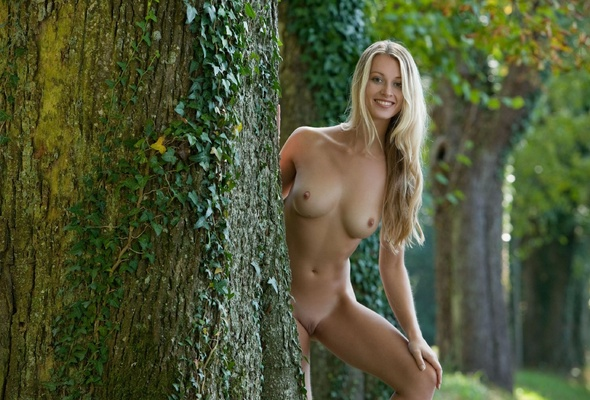 Nude Girl Naked In The Forest