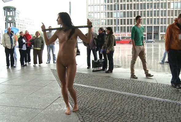 naked girl self humiliation