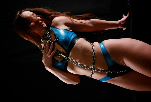 bikini shiny Bondage in girls