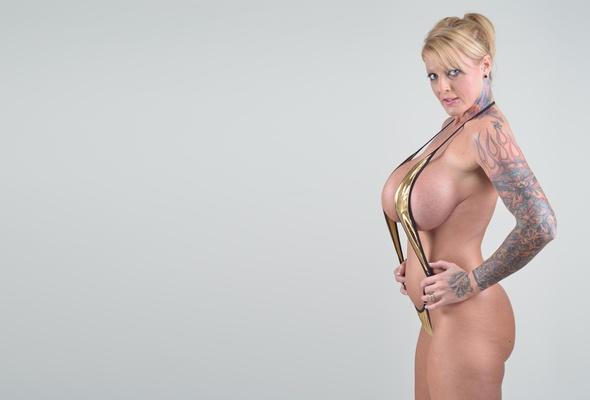 blonde, milf, updo hairstyle, monokini, shiny, model, posing, busty, tattoo, knockers, hooters, melons, gazongas, big boobs, motorboat, minimalist wall, body art, cougar, ultra, hi-q, sabrina linn, 40gg, best quality, super boobs, ultra hi-q