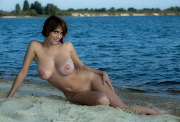 big Nude areolas beach