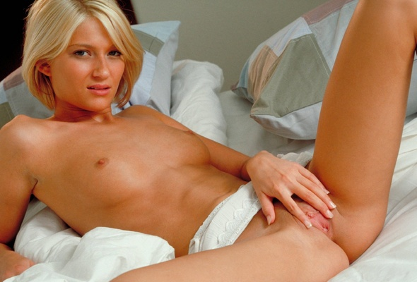 Skinny Short Haired Blonde