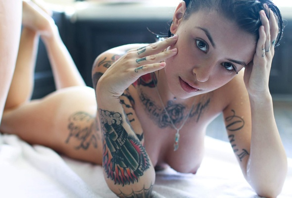 wallpaper Sexy naked girls tattoo