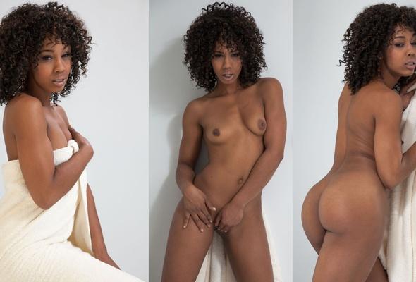 Shooting amateur ebony undressing video was