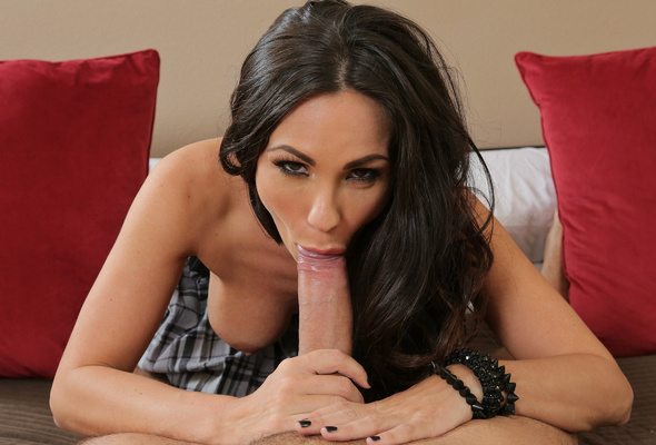 blowjob long hair cock Big brunette