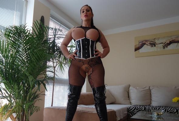 Tits big fishnet bodystocking
