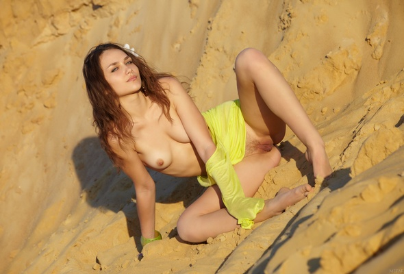 zlatka a, brunette, sexy girl, adult model, nude, naked, erotic look, sexual nipples, hi-q, meat curtains, meaty pussy, legs open, plump pussy