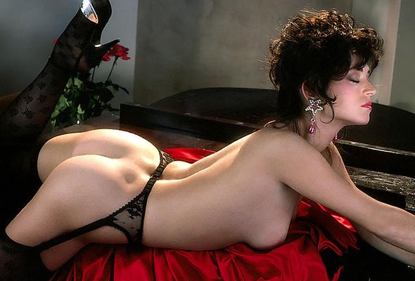 Wallpaper Ava Fabian, Playboy, Stockings, Ass, Tits, Retro -5625