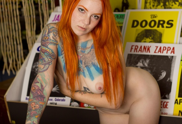 Nude girls red heads with tats