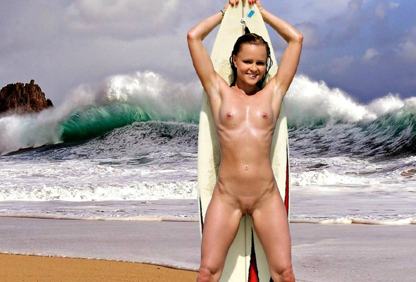 nude girls on the surf